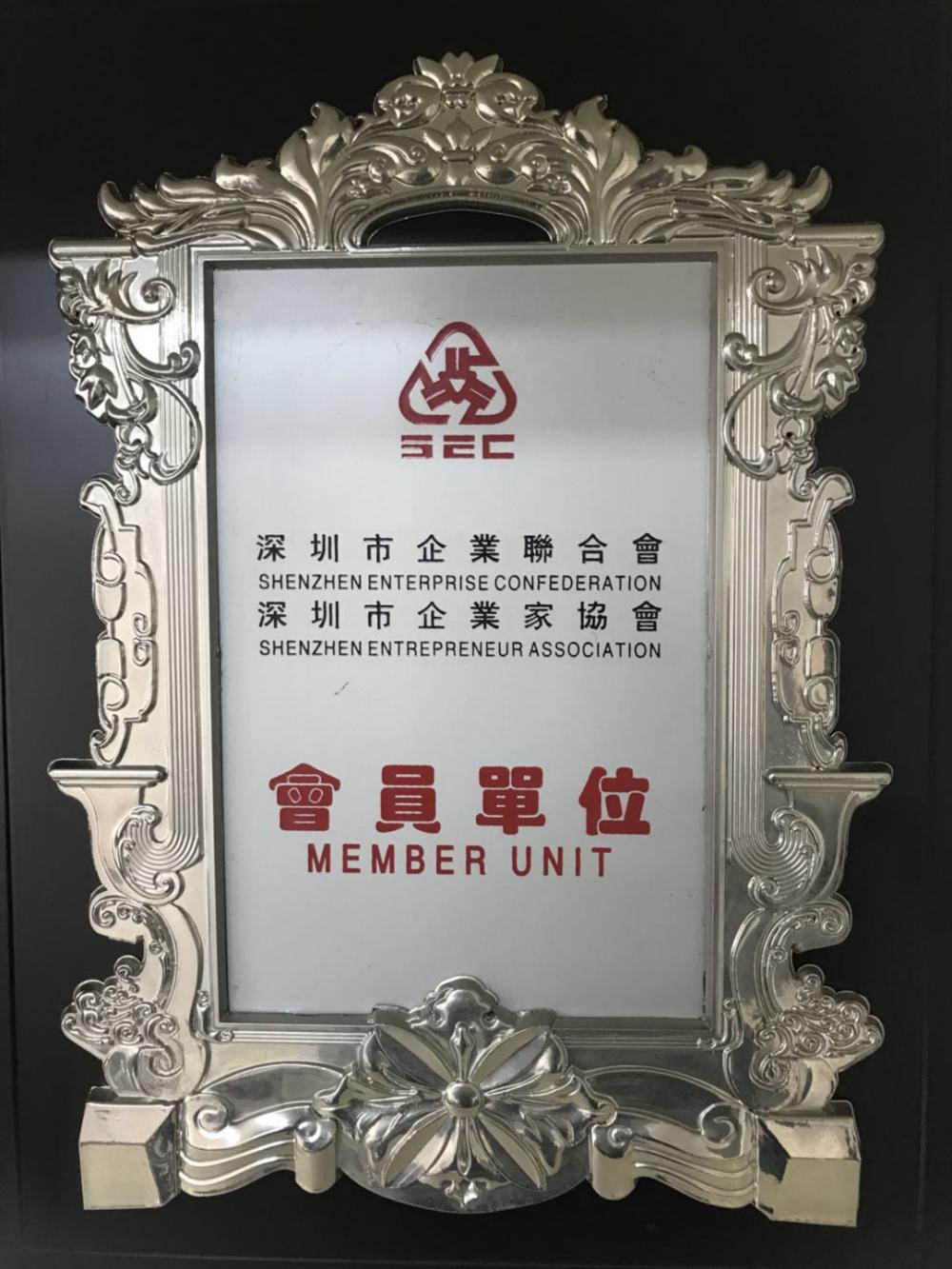 SHENZHEN ENTERPRISE CONFEDERATION SHENZHEN ENTREPRENEUR ASSOCIATION MEMBER UNIT