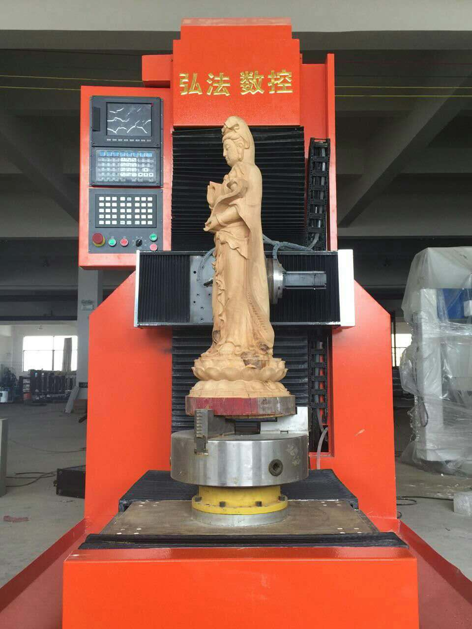 5 Axis CNC ROUTER for wood statue producing
