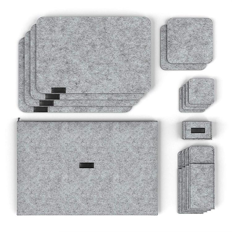 Tapis de table à manger en feutre antidérapant classique Tapis de table en feutre avec logo personnalisé absorbant
