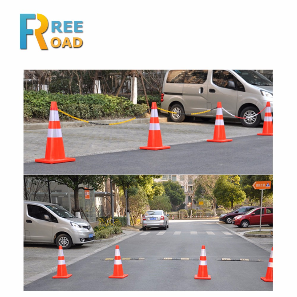 PVC road warning colored safety traffic cone