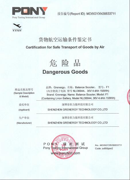 cargo safety transport certificate
