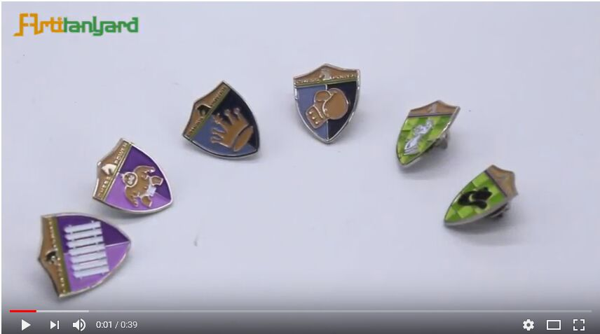video for metal pins, metal badge. promotional badges