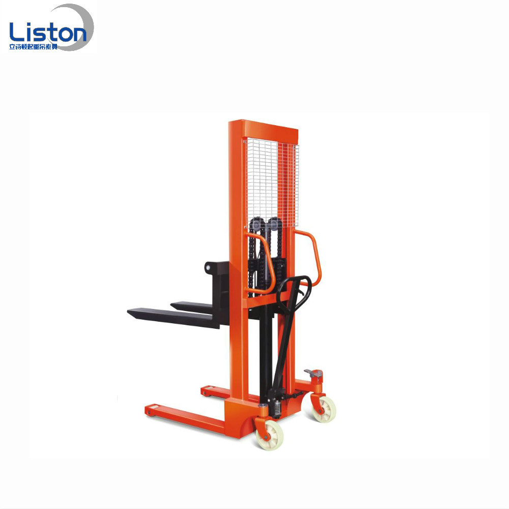 Hand forklift , manual stacker