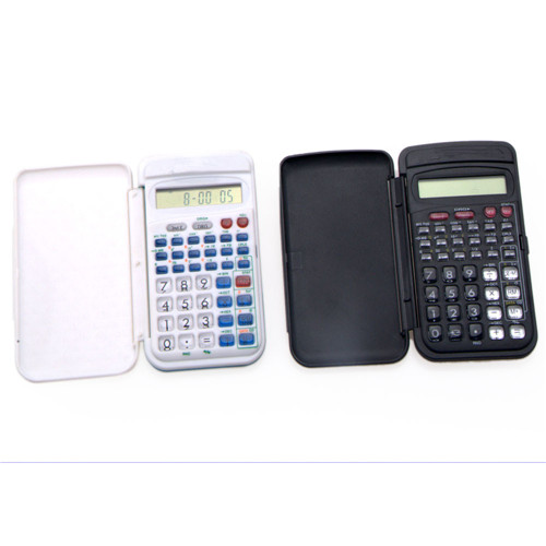Mini 8 digits display scientific calculator with flip cover