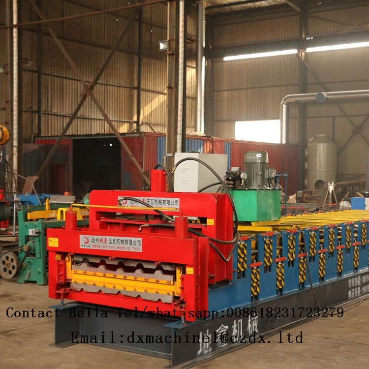 used color steel metal roof panel sheet tile making cold roll forming machine