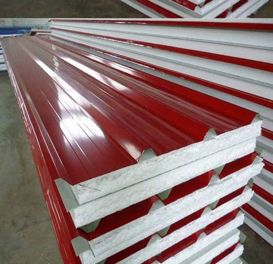EPS sandwich panel producing