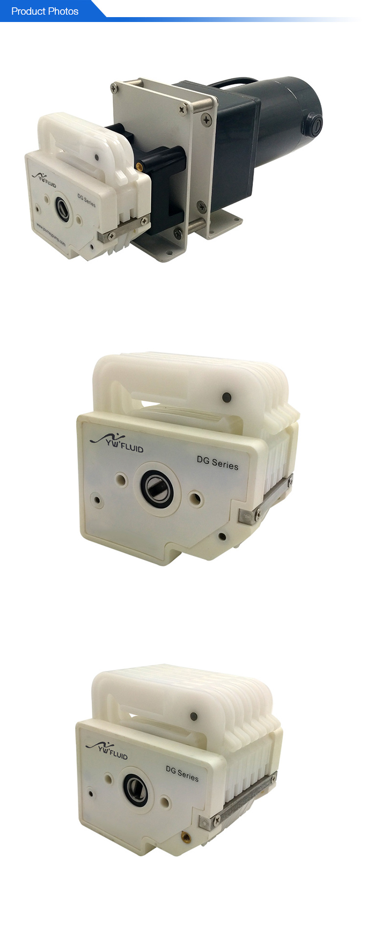 YWfluid Multi Channel DC Motor Peristaltic Dosing Pump Used for Pharmaceutical filling cosmetic filling