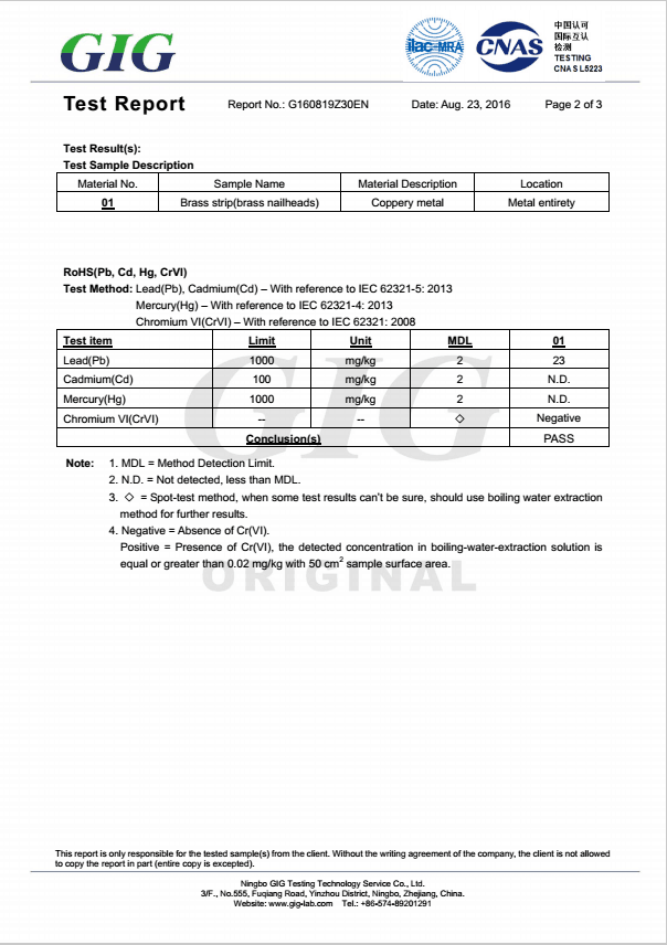 RoHS test report p2