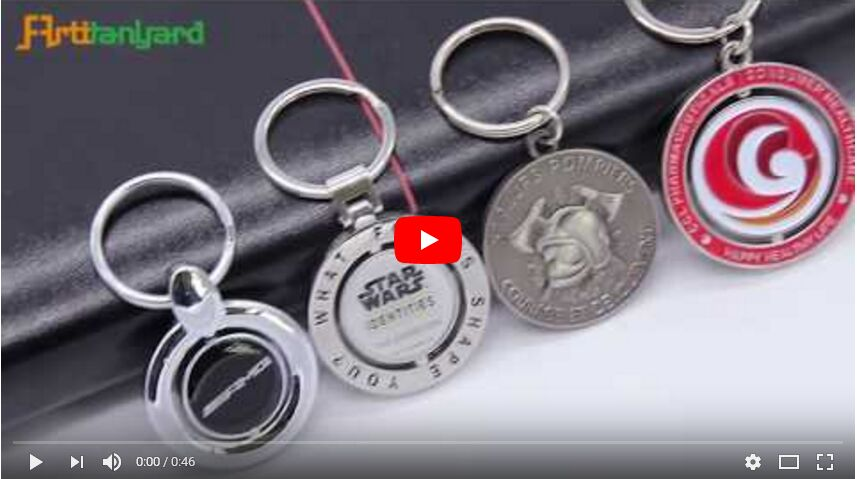 Customized Metal Keychain, Spin Keychain, Metal Spin Keychain