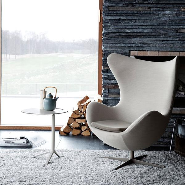 Cozy Living Room Setting - Egg Chair by Arne Jacbson