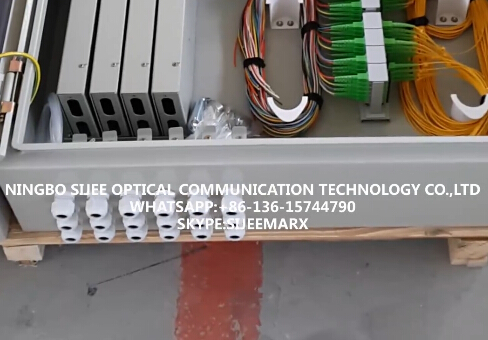 Wall Mounted Fiber  Optic Distribution Enclosure in Workshop