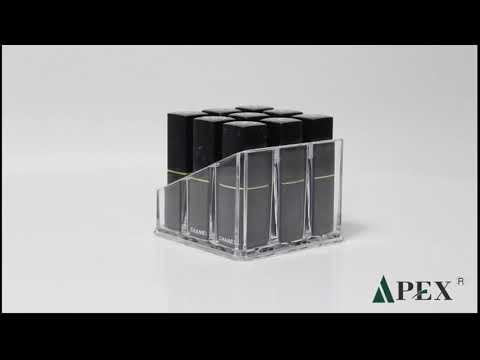 Hot sale modern clear acrylic lipstick holder rack