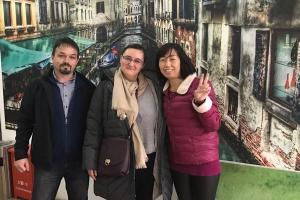 Customer visiting for Mural Printing Machine