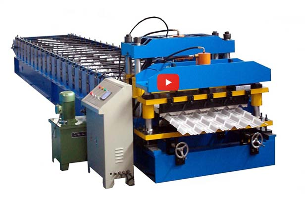 1075Glazed Roof Tile Forming Machine