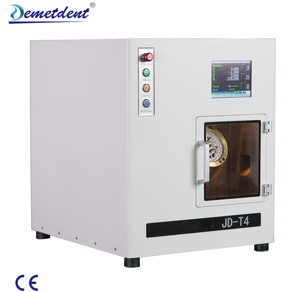 Demetdent JD-T4 dental milling machine milling Glass ceramic