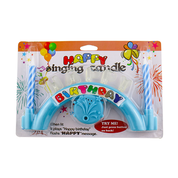 Balloon music singing LED birthday candle wholesale