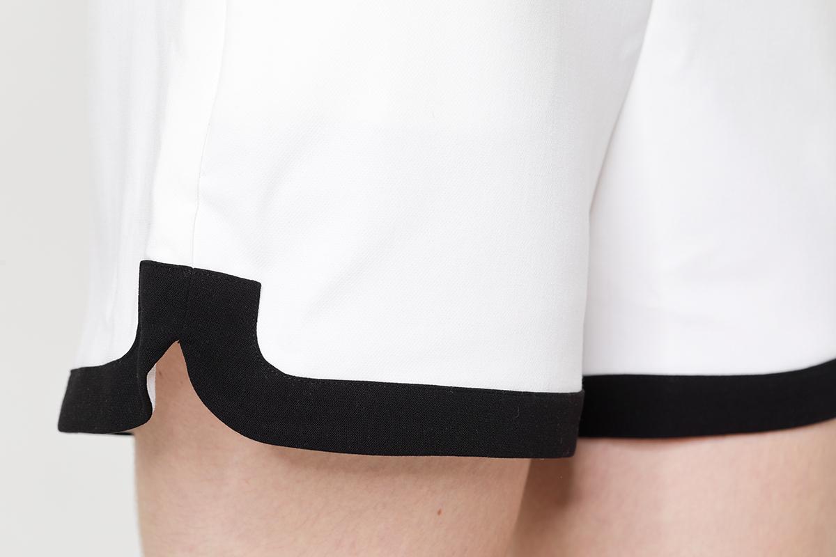 Lady's suit Blazer shorts contrast fabric