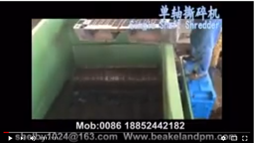 Pallet shredder / Plastic Shredder / Plastic recycling granulator