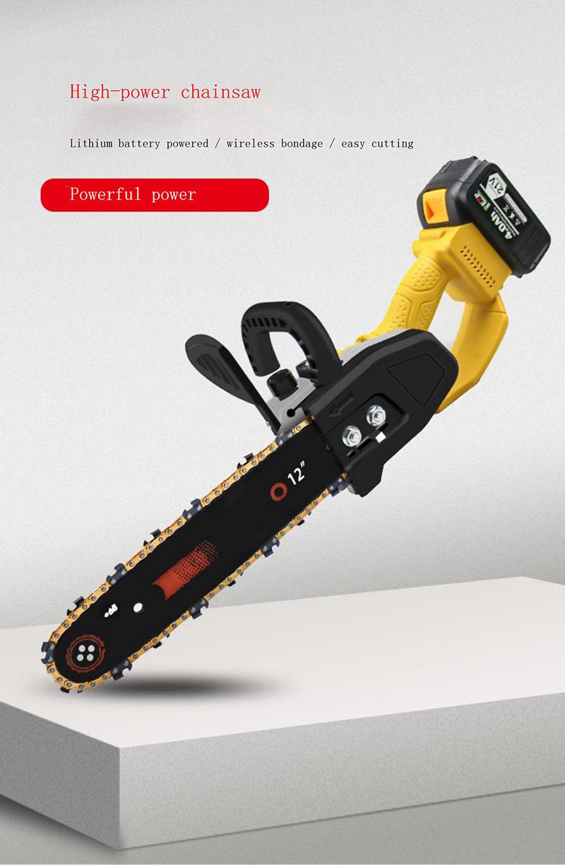 Hochleistungs-Elektrokettensäge drahtlose Mini-Kettensäge-Kettensägemaschine