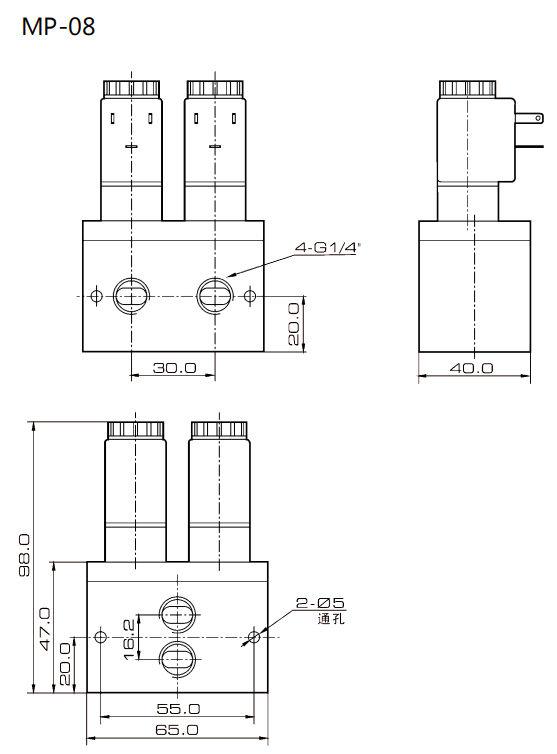 Medical Equipment Oxygen Concentrator Solenoid Valves 4 Way 12V 24V 0