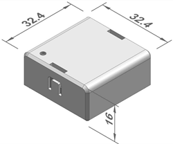 temperature sensor receiver for busbar