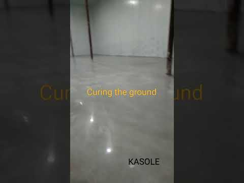Curing agent ground construction