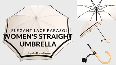 Elegant Lace Parasol Women's Straight Umbrella