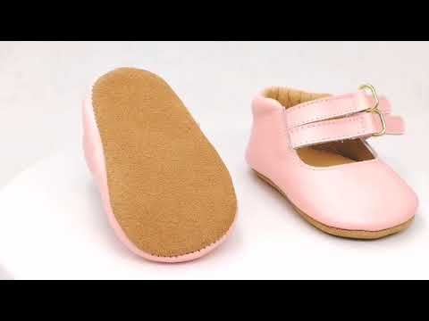 Pink Double Strap Cute Baby Dress Shoes