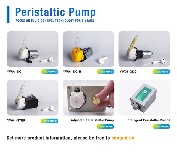Electric 12v peristaltic mini dispensing chemical pumps with CE certificate