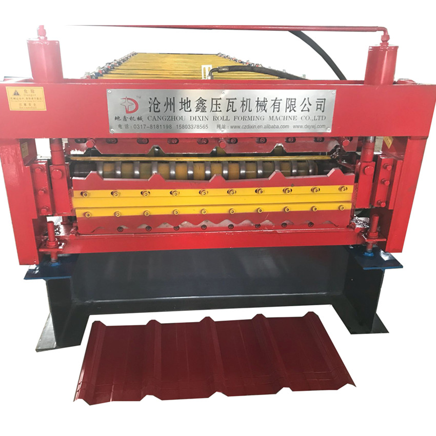 Zambia hot sales double layer galvanized roofing sheet roll forming machine