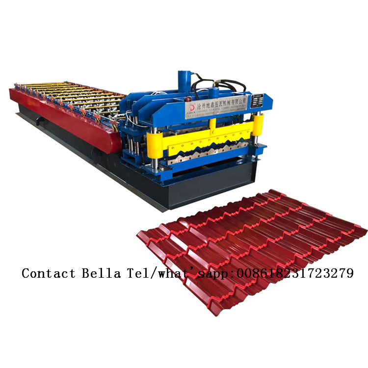 color steel roof roll forming glazed tile machine