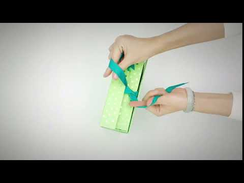 Folding paper gift box with lid