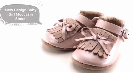 NEW Design Baby Girl Moccasin Shoes for Newborn