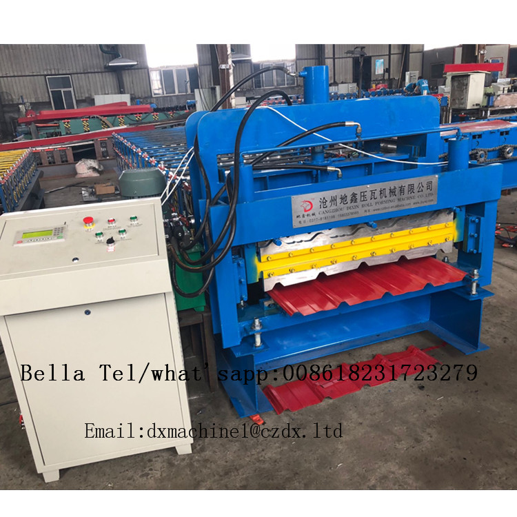 Double layer metal roofing corrugated steel sheet roll forming machine