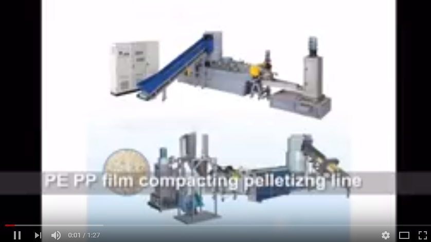 PE film granulating line