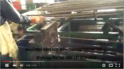 Seamless Precision Steel Tubes Cold Drawn Production