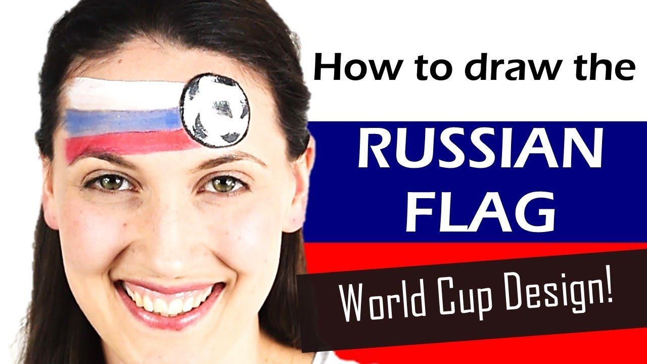 World Cup Russian Flag Face Paint Design