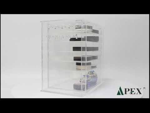 2019 new clear acrylic makeup organizer case with lid
