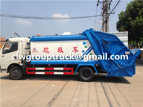 CLW GROUP TRUCK DFAC Duolika Garbage Compactor Truck working part of the operation