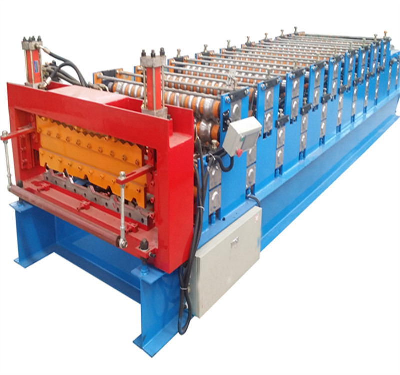 double layer color steel tile molding machine