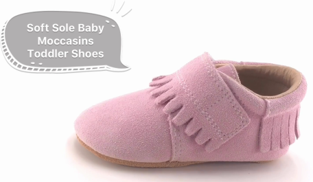 Soft Sole Baby Moccasins Toddler Shoes