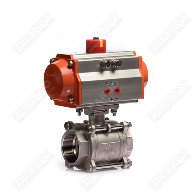 Sanitary Stainless Steel Tri Clamp Ball Valve With Pneumatic Actuator 3