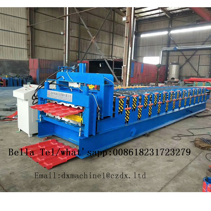 Double Layer roofing sheet glazed tile roof tile roll forming machine