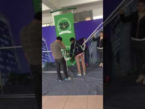 Packing the exhibition booth