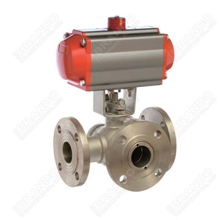 Sanitary Stainless Steel Tri Clamp Ball Valve With Pneumatic Actuator 8
