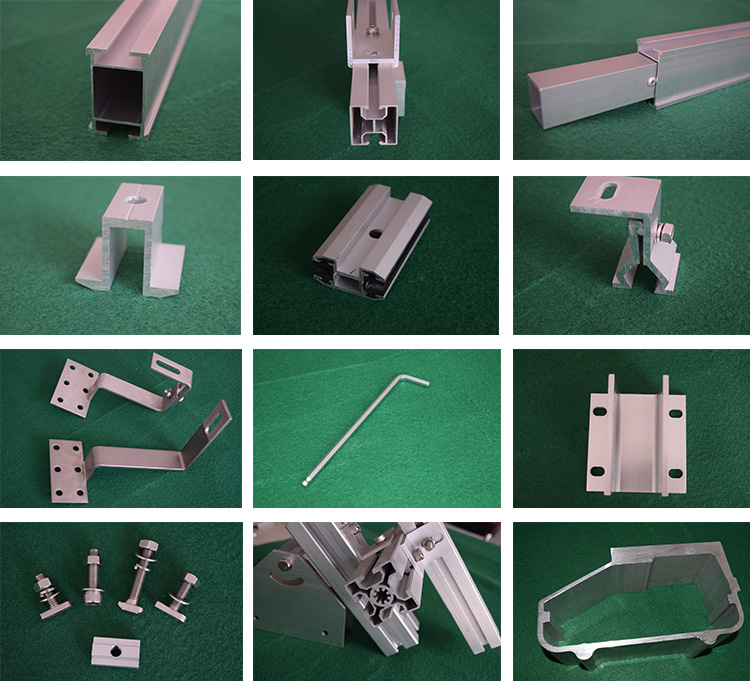 End clamp for 30mm thickness aluminum solar mountain systems