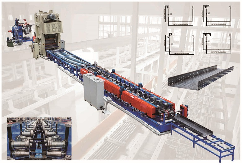Adjustable Galv Sheet Cable Tray rRoll forming line