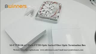 SJ-FTTH-SK-6 2 Ports FTTH Optic Socket/Fiber Optic Termination Box  with SC/APC Adapter