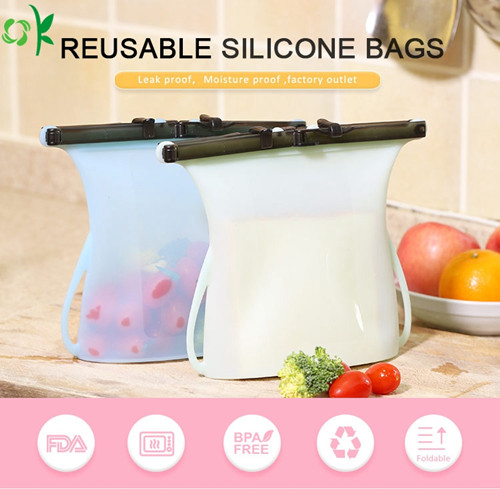 silicone storage bag silicone food storage bag