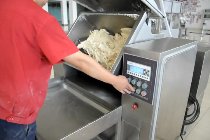 Paddle shaft vacuum mixer, Industrial Dough Mixer, Bakery Equipment, Pasta Processing Equipment